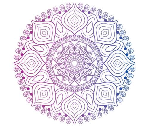 Mandala bleu et violet
