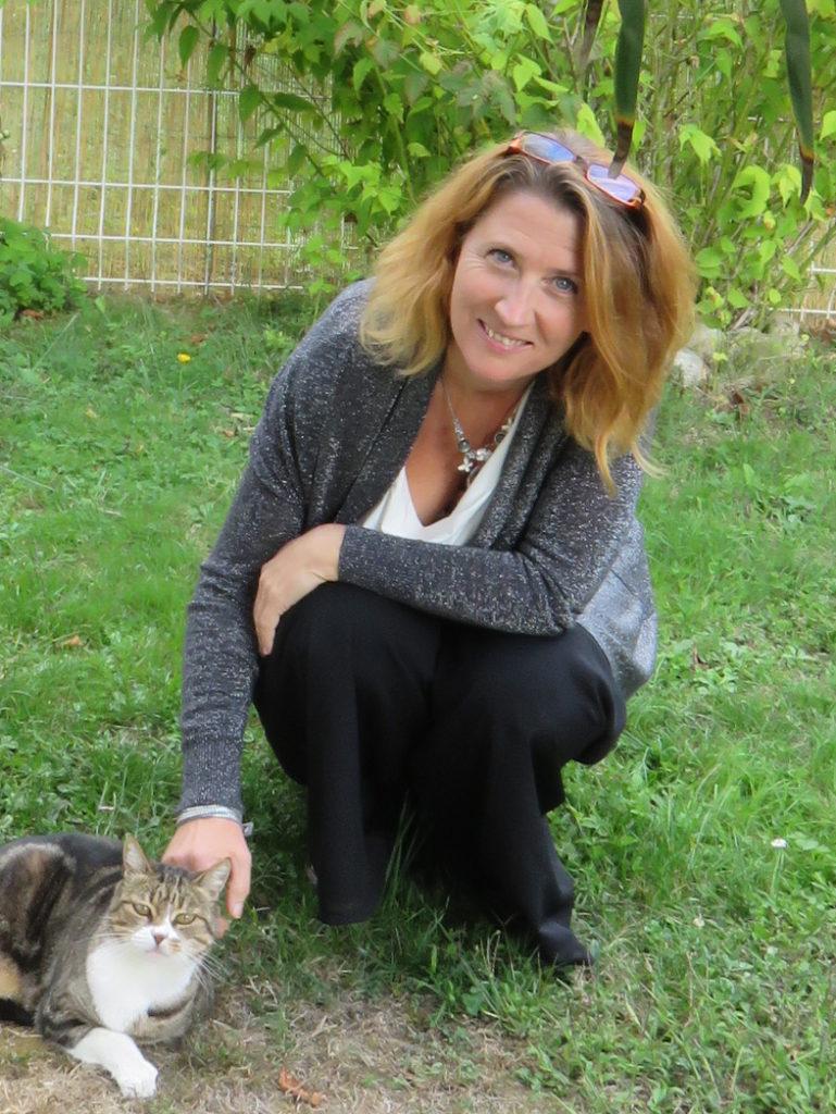 Photo Frederique avec son chat